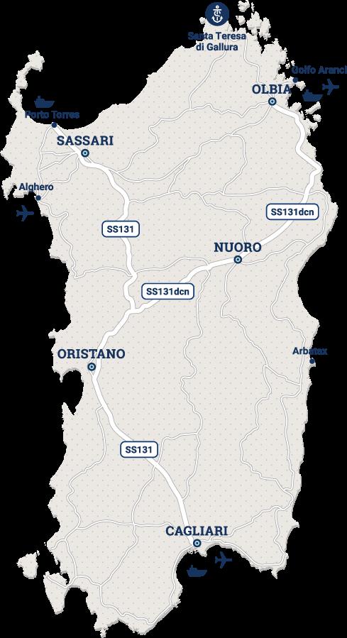 Cartina Sardegna Porto Torres.Stazione Marittima